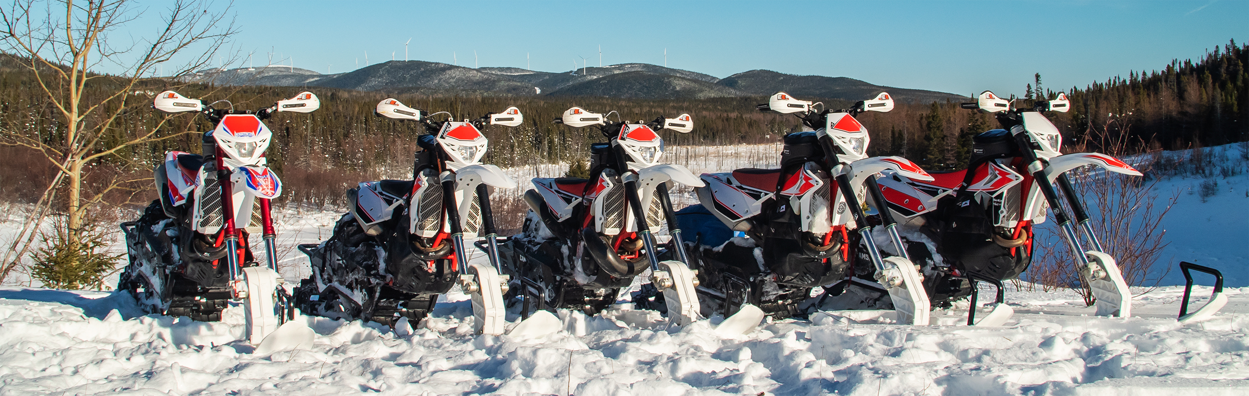 Snow Bikes lined up for duty